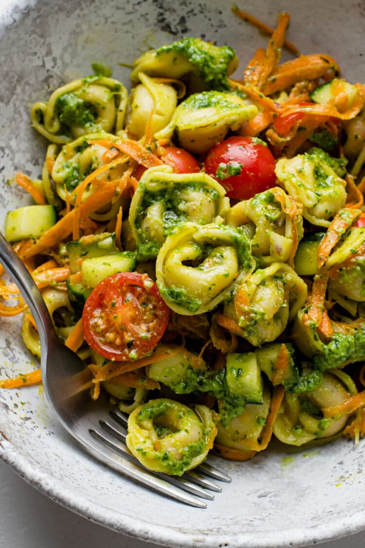 Enjoy this beautiful tortellini pasta for lunch, a light dinner, or an incredible side dish!