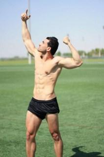Ahmed Saleh posing
