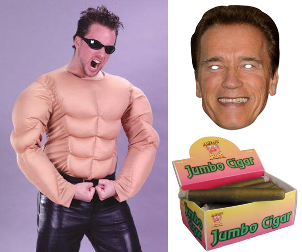 Halloween horror muscles: Arnold Schwarzenegger look
