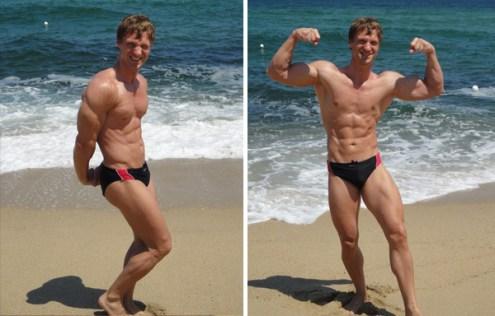 Christopher Maslon posing on the beach