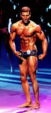 Amer Kamra posing at competition