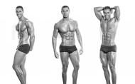 Nassim Sahili abs, pecs, biceps, legs