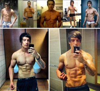 Alexander Hughes transformation selfies