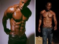 Shaka Smith posing topless