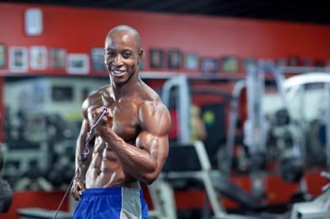 Shaka Smith (aka Shaka Strong) working out