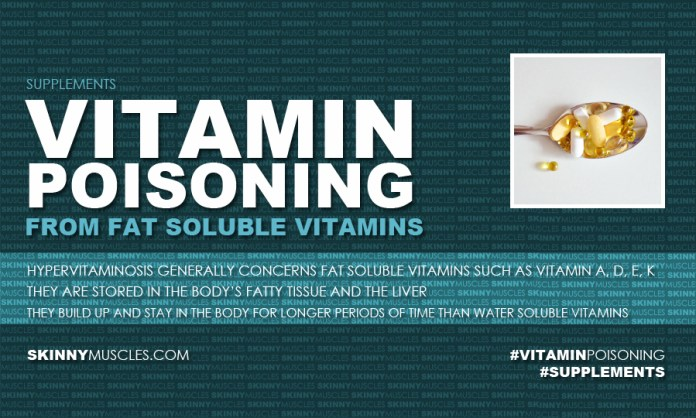 Vitamin poisoning from fat soluble vitamins
