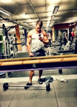 Tristan Edwards gym selfie