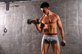Nate Tebow biceps curl