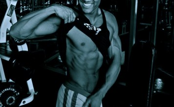 Johnny Starr on six pack abs