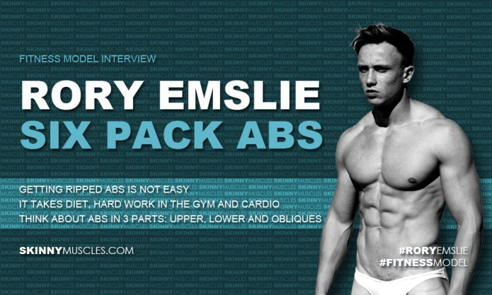 Rory Emslie on six pack abs