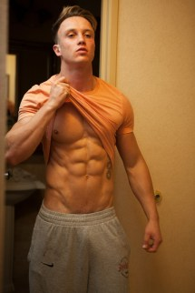 Rory Emslie six pack abs