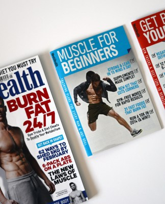 Tristan Edwards in the January issue of Men's Health magazine UK.
