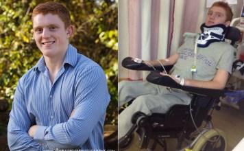 Rob Camm left tetraplegic after road accident