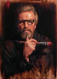 Rainer Andreesen self portrait with brush