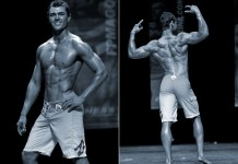 chris heskett fitness model competing on stage
