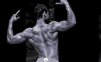 Chris Heskett back muscles