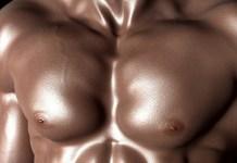 fitness model chest