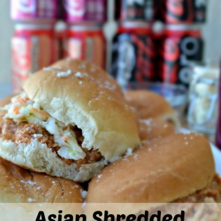 Asian Shredded Chicken Sliders