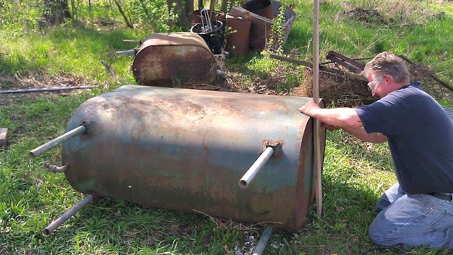 Repurposed Oil Tank