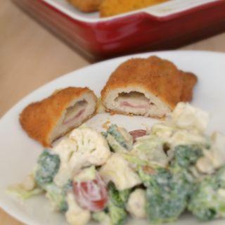Barber Foods Cordon Bleu with Creamy Broccoli Salad