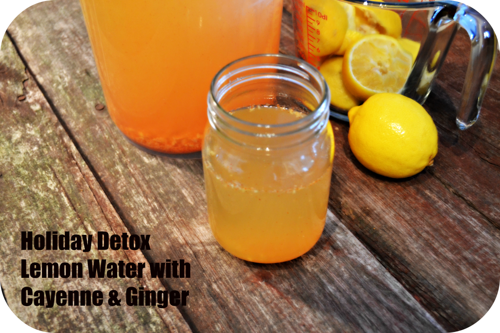 How to make CAYENNE GINGER DETOX WATER to combat boating and bad digestion.