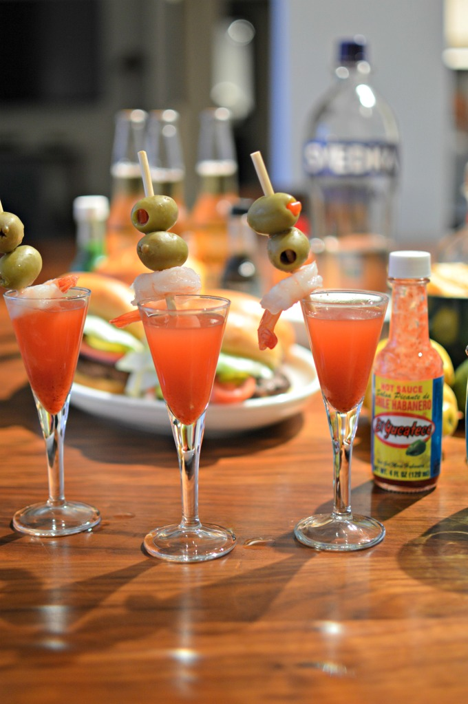 Red Chile Habanero Vodka Shooters