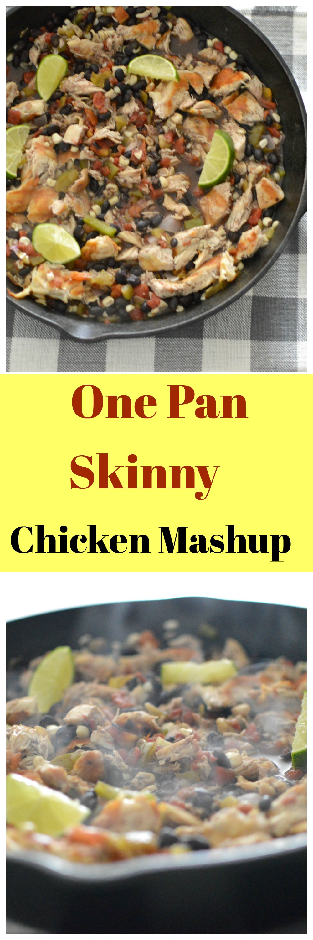 You are going to LOVE this One Pan Skinny Chicken Mashup 😍 which by the way is AMAZING! It is the perfect clean eating meal to add to your weekly meal plan.