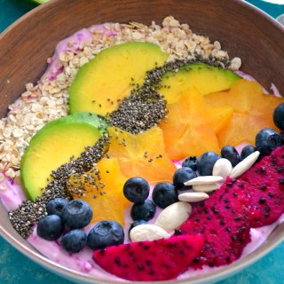 Tropical Breakfast Smoothie Bowl Superfood Recipe