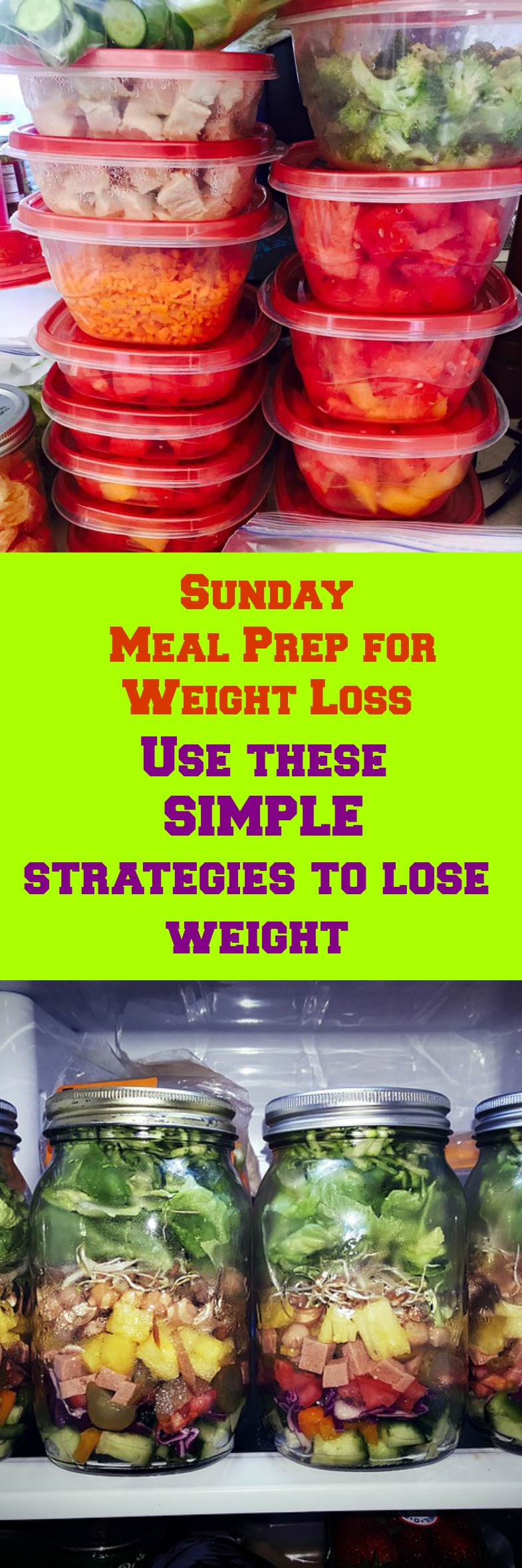 >Sunday Meal Prep for Weight Loss is your best task to achieve weight loss success! You must Use our strategies to be successful with your weight loss goals.