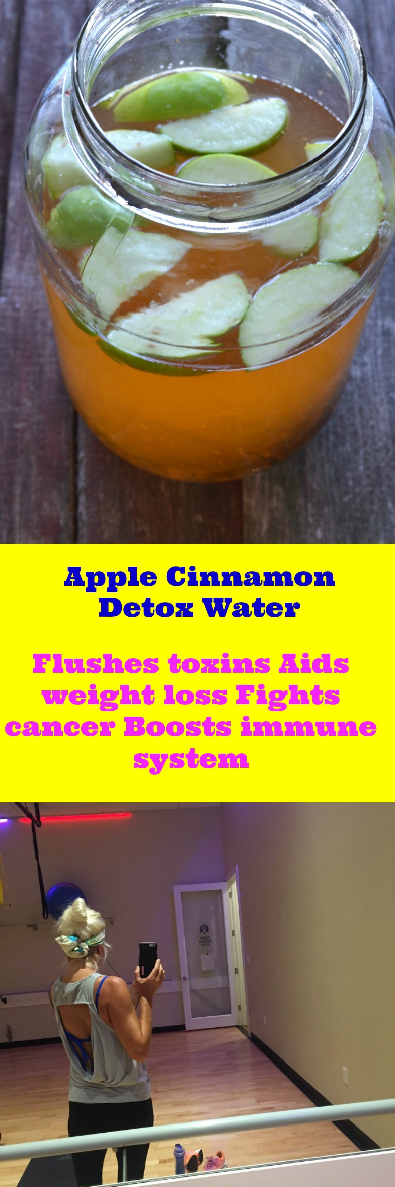 How To Make Apple Cinnamon Detox Water. This recipe boosts your metabolism naturally that will help you burn more calories to boost your fat burning naturally.  You'll have more energy throughout your day guaranteed! Weightloss and Fat burning to cleanse your system.