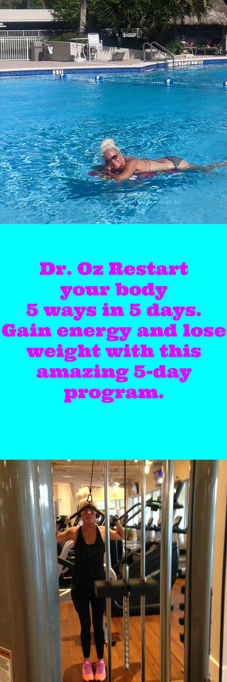 You'll want to Jumpstart your healthy goals this year with Dr. Oz Restart your body 5 ways in 5 days. Gain energy and lose weight with this amazing 5-day program. You will see rapid weight loss, lose belly fat with this healthy lifestyle recipe for weightloss.