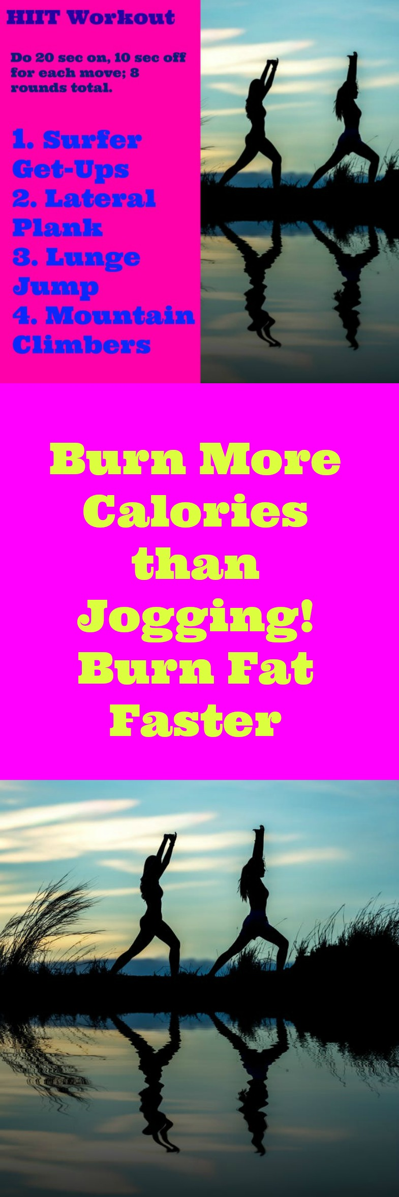 An easy beginner HIIT workout to burn fat faster with no weights. Video Instruction. Challenge your abs and feel the burn on your core.