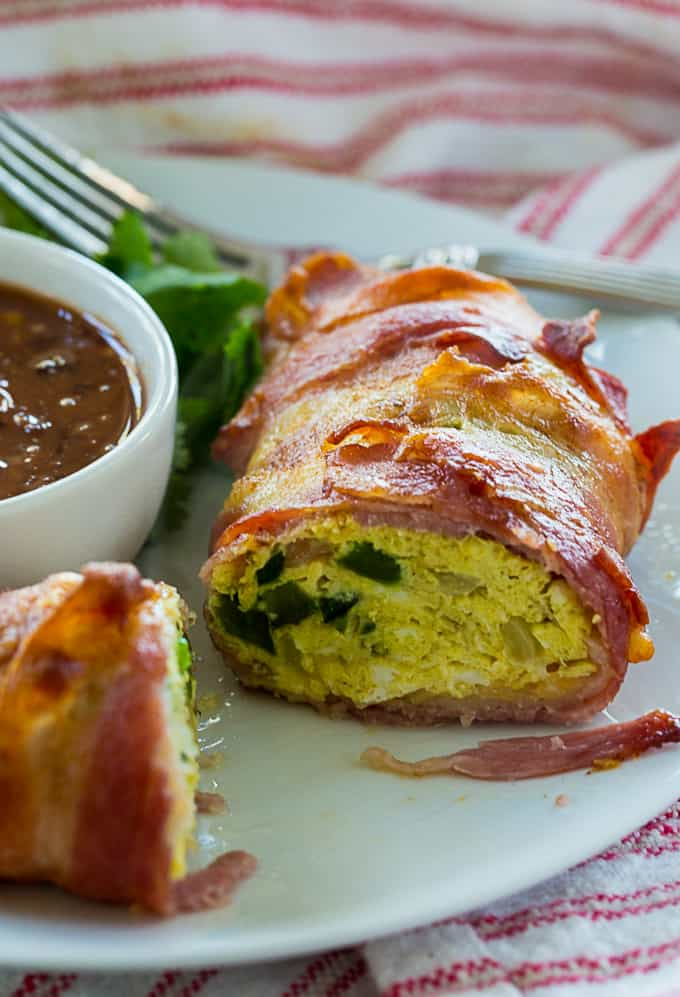 Air Fryer Low Carb Bacon, Egg & Cheese Roll-Ups