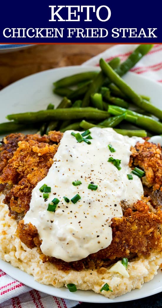 Keto Chicken Fried Steak and Gravy #lowcarb #southern
