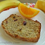 Orange Scented Fruity Banana Bread