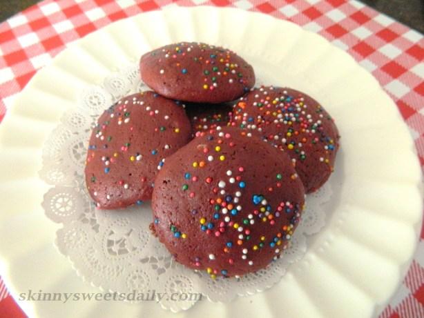 Light and Lovely Red Velvet Cake Cookies