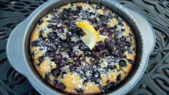 Skinny Blueberry Lemon Crunch Cake