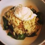 Truffle Eggs, Greens & Quinoa Recipe