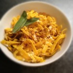 Gluten Free Sweet Potato Pasta with Lemon Sage Butter