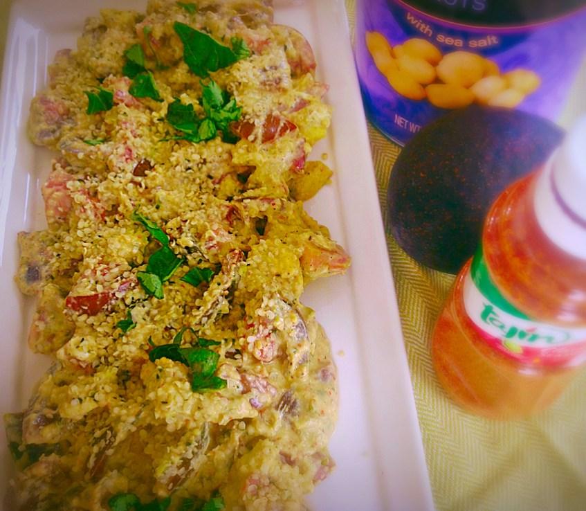 Kumato Salad with Burrata and Macadamia Nuts