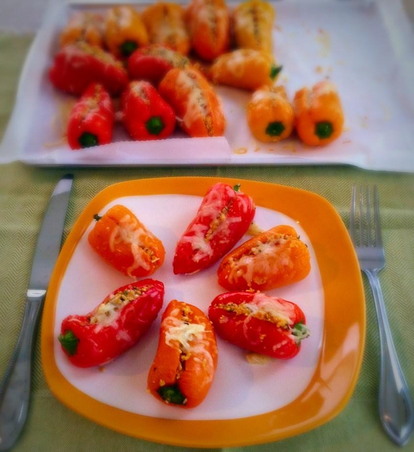 Pine Feta Stuffed Mini Sweet Peppers
