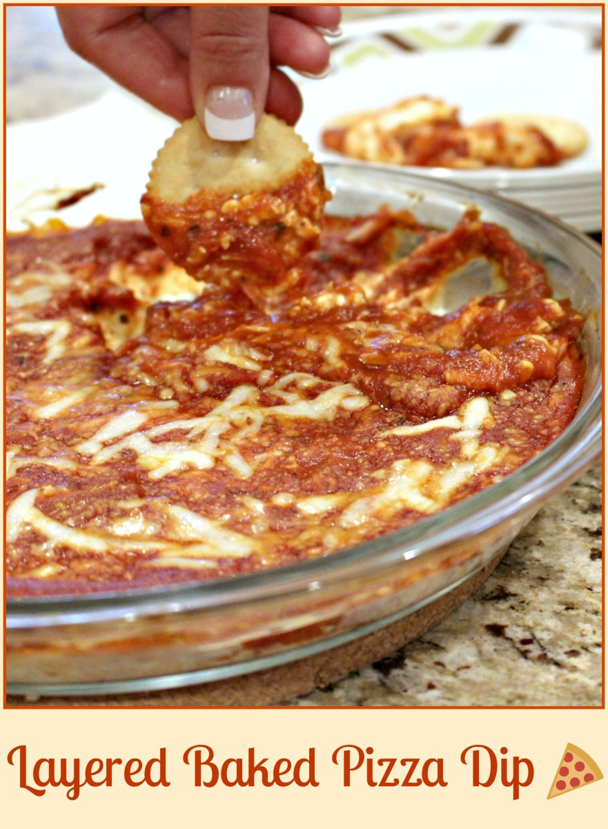 Layered Baked Pizza Dip – Skinny Sweets Daily