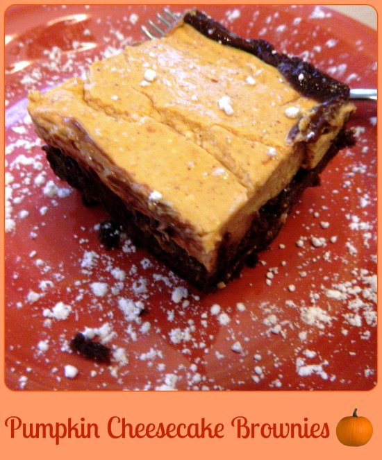 Pumpkin Cheesecake Brownies – Skinny Sweets Daily