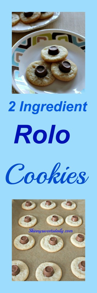 Two ingredient Rolo cookies 2 pics
