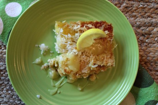 Delicious Tropical Lemon Coconut Dump Cake