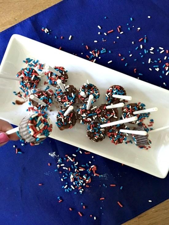 Mini Patriotic Pudding Pops