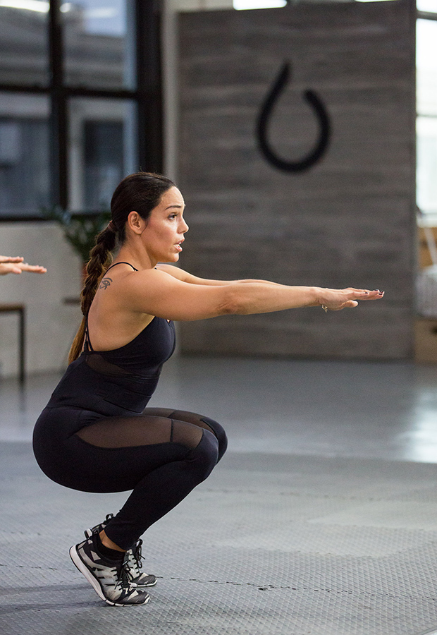 Butt Exercises: Deep Squat with Heel Raise Exercise