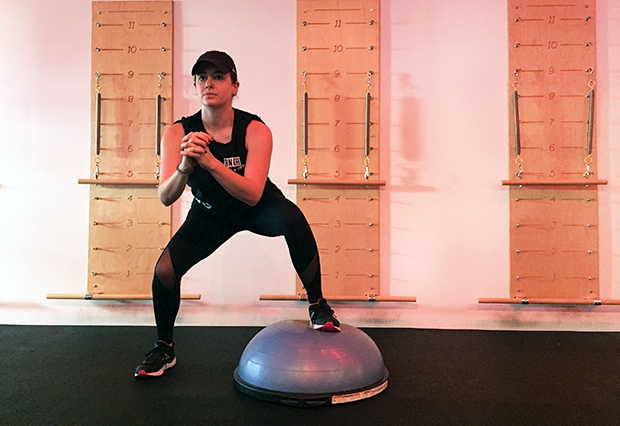 Butt Exercises: Side-to-Side BOSU Squat Exercise