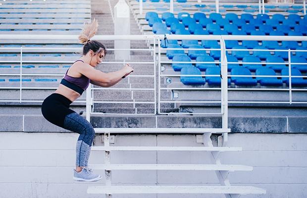 Core Workout Challenges: Stick a Single-Leg Box Jump