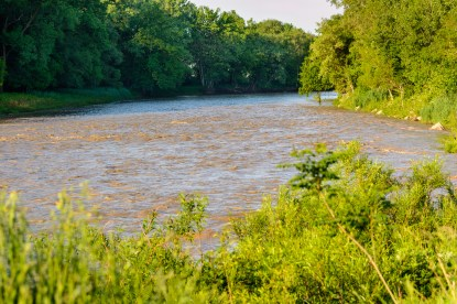 Chagrin River after a heavy rain